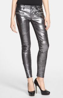 MICHAEL Michael Kors Leather Moto Jeans