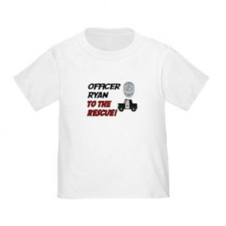 Personalized Ryan to the Rescue Police Officer Policeman Baby Infant Toddler Kids Shirt CUSTOMIZE WITH ANY BOY OR GIRLS NAME, Christmas Present Custom Gift Collection Clothing