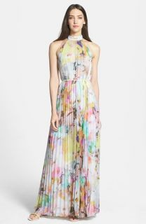 Ted Baker London Electric Daydream Print Pleated Maxi Dress
