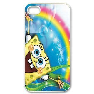 Personalized Cartoon SpongeBob SquarePants Protective Snap on Cover Case for iPhone 4/4S SS189 Cell Phones & Accessories