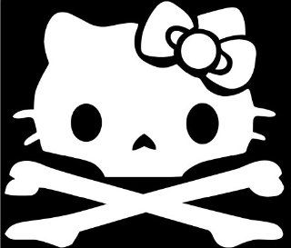 Hello Kitty Skull And Cross Bones Vinyl Decal Sticker cute girly funny FREE USPS Automotive