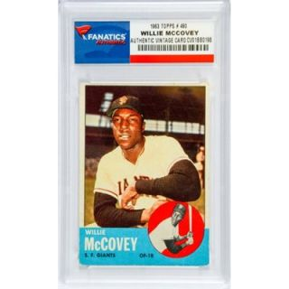 Willie McCovey San Francisco Giants 1963 Topps #490 Card