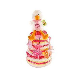 Special Delivery 3 Tier Diaper Cake   Girl Baby