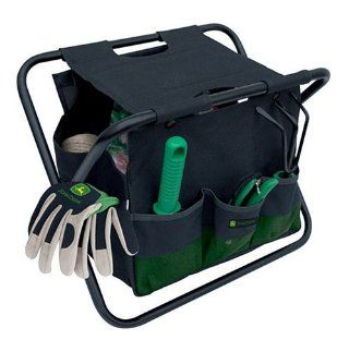 John Deere Gardening Seat and Tool Tote (Does Not Include Tools) 92007 (Discontinued by Manufacturer)  Patio, Lawn & Garden