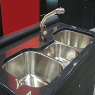 "Regatta 46"" Stainless Steel Triple Bowl Kitchen Sink in Polished Satin"