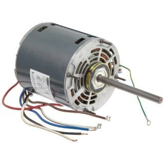 "Fasco D729 5.6"" Frame Open Ventilated Permanent Split Capacitor Direct Drive Blower Motor with Sleeve Bearing, 3/4 1/2 1/3HP, 1075rpm, 208 230V, 60Hz, 5.4 3.8 2.9 amps"