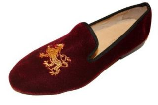 Smythe and Digby Burgundy Wine Velvet Loafer Leather (9.5) Shoes
