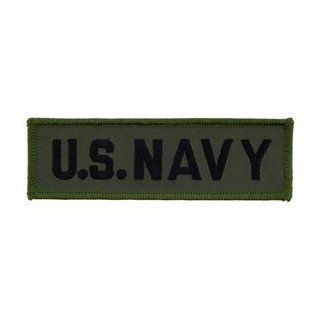 US Navy Military Embroidered Iron On Patch   United States Navy Collection   US NAVY Subdued Green Tab Applique Clothing