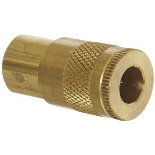 "Dixon Valve DC221 Brass Air Chief Automotive Interchange Quick Connect Air Hose Socket, 1/4"" Coupler x 1/8"" NPT Female Thread, 37 CFM Flow Rating"