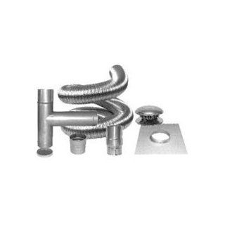 Chimney Thru The Wall Kit 6 X 25 STAINLESS STEEL COMPLETE FLEX KIT