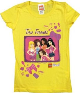 "LEGO Friends Girl's ""True Friends"" Short Sleeve Shirt Clothing"
