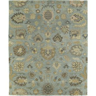 Christopher Kashan Hand tufted Light Blue Rug (9' x 12') 7x9   10x14 Rugs