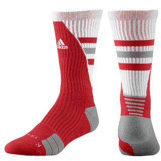 adidas Team Speed Traxion Crew Socks   Basketball   Accessories   University Red/White/Aluminum