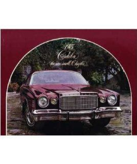 1975 Chrysler Cordoba Sales Brochure Literature Book Options Specification Automotive
