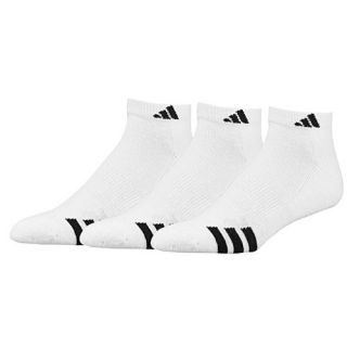 adidas 3 Stripe 3 Pack Low Socks   Mens   Training   Accessories   White/Black
