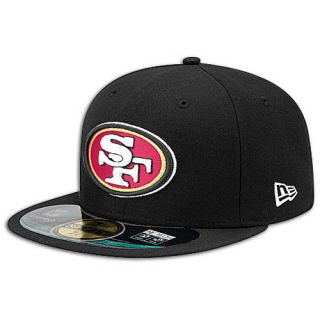 New Era NFL 59Fifty Sideline Cap   Mens   Football   Accessories   San Francisco 49ers   Black
