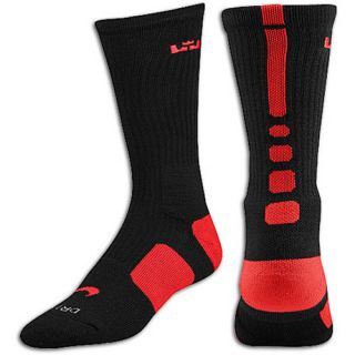 Nike LeBron Elite Basketball Crew   Mens   Basketball   Accessories   Black/Sport Red