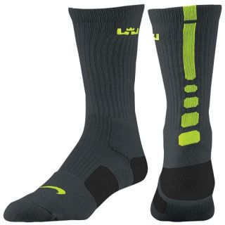 Nike LeBron Elite Basketball Crew   Mens   Basketball   Accessories   Anthracite/Volt