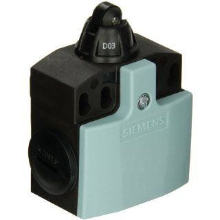 Siemens 3SE5 242 0BD03 Mechanical Position Switch, Complete Unit, Plastic Enclosure, 50mm Width, 10mm Plastic Roller Plunger, Slow Action Contacts, 1 NO + 1 NC Contacts