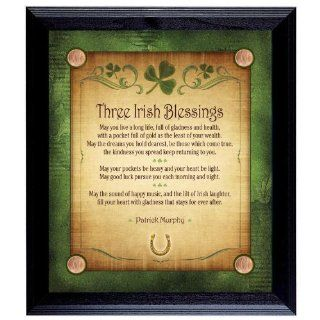 Three Irish Blessings Personalized Wall Frame   Wall Decor Stickers