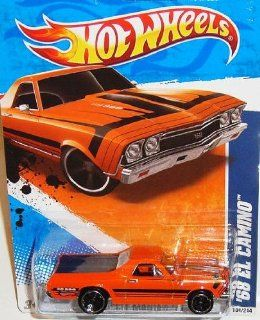 2011 Hot Wheels Muscle Mania '11   #4/10 '68 Orange EL CAMINO Collectible 164 Scale Car 104/244 Toys & Games