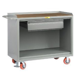 "Little Giant MH 2448 HDFL Heavy Duty Drawer Mobile Bench Cabinet with 1/4"" Hardboard Top, 3600 lbs Capacity, 48"" Length x 24"" Width x 41"" Height"