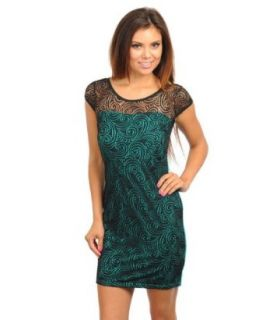 247 Frenzy Women's Lace Overlay Dress
