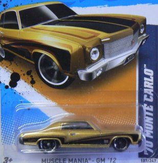 2012 Hot Wheels Muscle Mania   GM '70 Monte Carlo   7/10   107/247 Toys & Games
