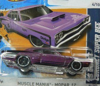 Hot Wheels Muscle Mania Mopar '12 4/10 Purple '69 Dodge Coronet Super Bee Collector #84/247 on Short Card Toys & Games