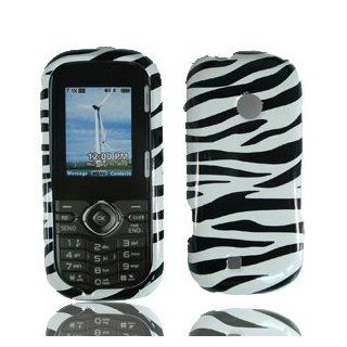 For Verizon Lg Cosmos 2 Vn251 Accessory   White Black Zebra Design Hard Case Cover Cell Phones & Accessories