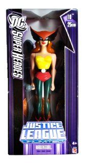 Mattel Year 2006 DC Super Heroes Justice League Unlimited Series 10 Inch Tall Action Figure   HAWKGIRL with Battle Mace and Display Stand (K0789) Toys & Games