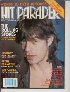 Hit Parader Magazine MICK JAGGER Rolling Stones REO SPEEDWAGON CENTERFOLD Joe Walsh JOURNEY November 1981 C (Hit Parader Magazine) Andy Secher, John Shelton Ivany Books