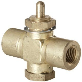 "Kingston 259 Series Brass Quick Opening Flow Control Valve, Pin Handle, 1/4"" NPT Female Industrial Control Valves"