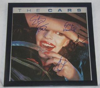The Cars Self Titled Authentic Group Signed Autographed Lp Record Album with Vinyl Framed Loa Collectibles & Fine Art