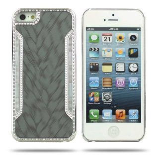 Candywe Unique Design Slim Fit Hard Case Compatible with Apple iPhone 5 5SGrey Cell Phones & Accessories