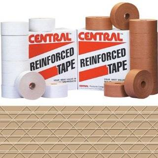 "Central T907270 Extra Heavy Duty 270 Reinforced Tape, 450' Length x 3"" Width, Kraft (Case of 10) Masking Tape"