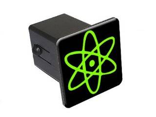 "Atomic Symbol   Black Green   2"" Tow Trailer Hitch Cover Plug Insert Truck Pickup RV Automotive"