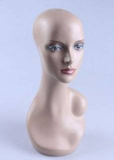 "Model 32 Female 19"" Tall Realistic Mannequin Head for Wig, Hat, Jewlery Display made by om�"