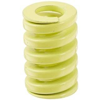 "Die Spring, Extra Heavy Duty, Closed & Ground Ends, Yellow, 25"" Hole Diameter, 12.5"" Rod Diameter, 38"" Free Length, 277.2lbs Spring Rate (Pack of 10)"