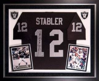 "Ken Stabler Oakland Raiders Deluxe Framed Autographed Jersey with ""Snake"" Inscriptions  Sports Related Collectibles  Sports & Outdoors"