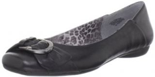 AK Anne Klein Women's Isador Ballet Flat,Black,5 M US Shoes