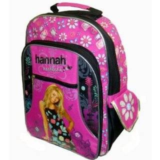 Hannah Montana Backpack   Disney's Officially Licensed Hot Pink & Black Back Pack School Bag (Miley Cyrus); Great Gift Idea For Girls (Kids & Childrens School Backpack Book Bag)