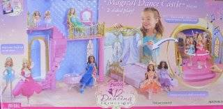 BARBIE The 12 DANCING PRINCESSES MAGICAL DANCE CASTLE Playset w MUSIC & 2 Sided Play (2006) Toys & Games