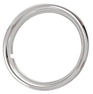 "17"" Chrome Plated STainless Steel Beauty Steel Wheel Trim Rings 17 x 6 1 3/4 Deep Set of Four Automotive"
