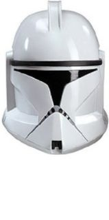 Rubie's Costume Men's Star Wars Deluxe Injection Molded Adult 2 Piece Clone Trooper Mask, Multicolor, One Size Clothing
