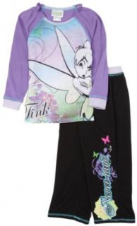 Komar Kids Girls 7 16 Tinkerbell 2 Piece Pajama Set,Purple/Black,S (6/6x) Clothing