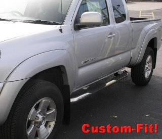 "Premium Custom Fit 05 14 Toyota Tacoma Access Cab Stainless Steel 3"" Side Step Nerf Bars Running Boards(2pcs with Mounting Bracket Kit) Automotive"