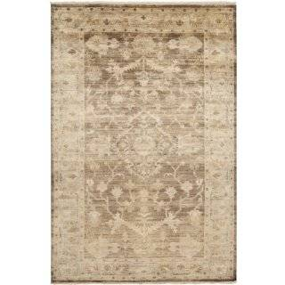 2' x 3' Sivas Gray, Tan and White Hand Knotted Plush Pile Wool Area Throw Rug   Rugs For Living Room