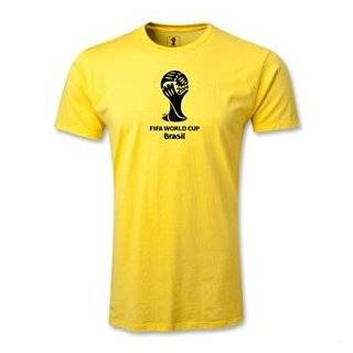 FIFA World Cup 2014 2014 FIFA World Cup Brazil(TM) Men's Fashion Emblem T Shirt (Yellow) Clothing