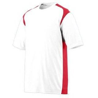Youth Wicking/Antimicrobial Gameday Crew   White and Red   Small Clothing
